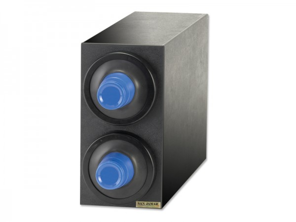 EZ Fit Becherspender Boxsystem, 2x C2410C, mit schwarzen Blendenringen für Becher Ø 73-121 mm
