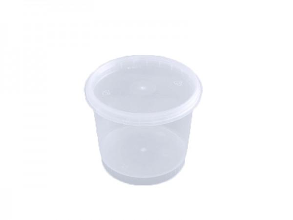 50 Originalitätsverschlussbecher transparent mit Deckel 300 ml