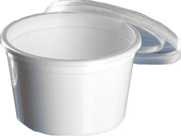 Becher mit Deckel 30 ml weiß (95190)