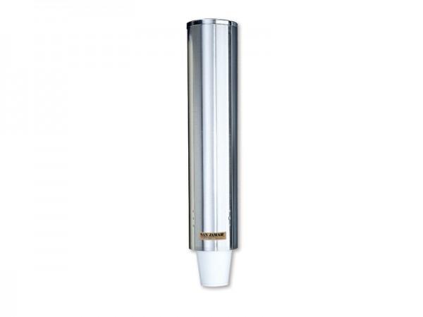 Edelstahl Becherspender für Styroporbecher, für Becher mit Ø82-98 mm Wandmontage (1 Stück)