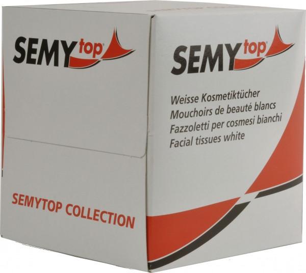 Kosmetikboxwürfel 3-lagig, 20,5x20,5 cm, hochweiß, 60 Blatt (30 Würfel)