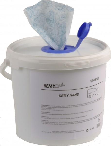 Hand Putztuch getränkt im Eimer 17x29 cm, weiß (1x200 Tücher)