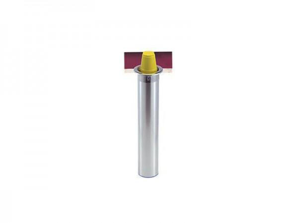 Becherspender für Papier + Kunststoffbecher, vertikaler Einbau, Ø 101-124 mm (1 Stück)