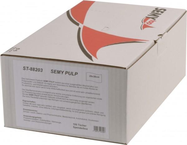 Semy Pulp Spenderbox 29x38 cm, weiß ( 6x100 Tücher)