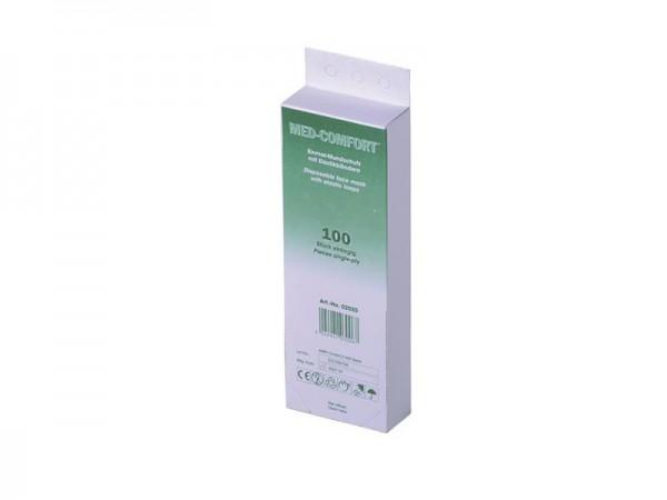 Med Comfort Mundschutz 1-lagig, Papier weiß (1x100)