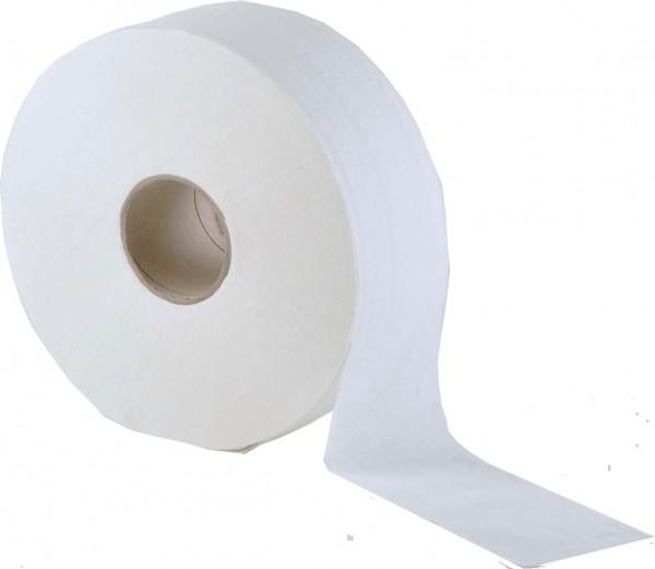 Jumbo Toilettenpapier 2-lagig, 9,5x19 cm, Ø 25 cm, hochweiß (6 Rollen)