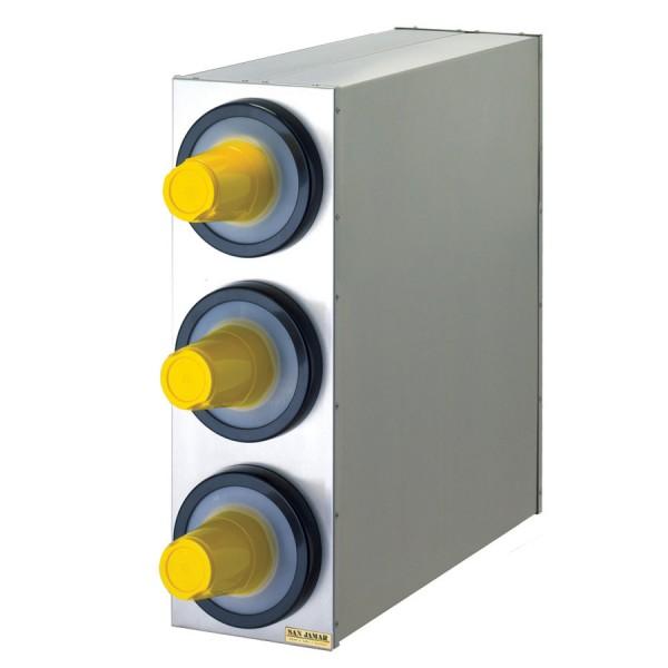 EZ Fit Edelstahl Becherspender Boxsystem, 3x C2410C Ø 73-121 mm (1 Stück)