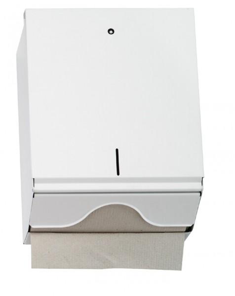 Papierhandtuchspender 270x330x130 mm, für 500 Stück, metall/weiß (1 Stück)