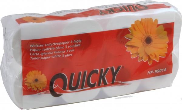 Toilettenpapier 3-lagig 9,4x11 cm, hochweiß, 250 Blatt (6x8 Rollen)