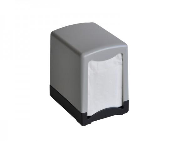 Servietten - Tischspender für Spenderservietten Serviettenspender schwarz/grau (1 Stück)