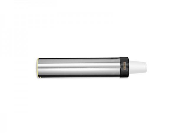 Becherspender für Papier + Kunststoffbecher, horizontale Oberflächenmontage, Becher Ø101-124 mm (1 S