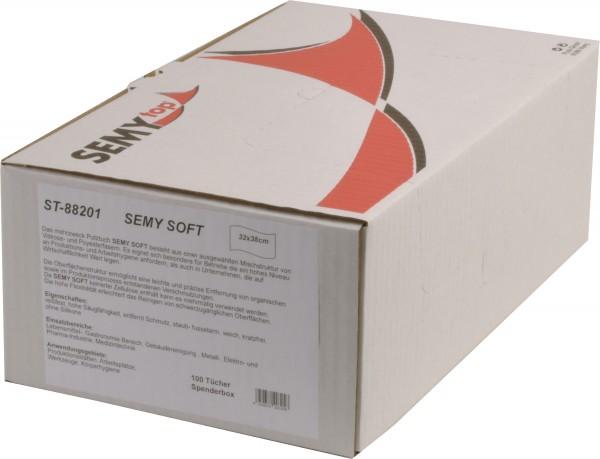 Semy Soft Spenderbox 32x38 cm, weiß (6x100 Tücher)