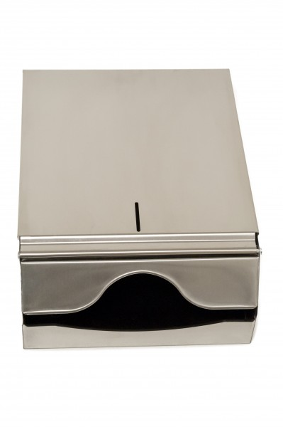 Papierhandtuchspender 250x330x125 mm, für 500 Tücher, Edelstahl (1 Stück)