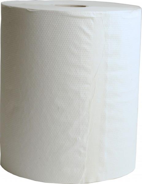 Handtuchrolle mit Spezialkern 1-lagig, 4er Kern, 20 cm, Ø19 cm, weiß (6 Rollen)