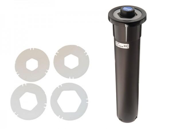Euro EZ-Fit Becherspender, Papier, Plastik, Styropor, Ø73-98 mm 457 mm lang Thekeneinbau (1 Stück)