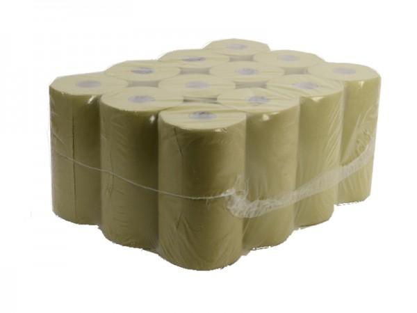 Handtuchrolle mit Spezialkern 2-lagig, 4er Kern, 23x28 cm, Ø 13 cm, 54 cm, grün (12 Rollen)