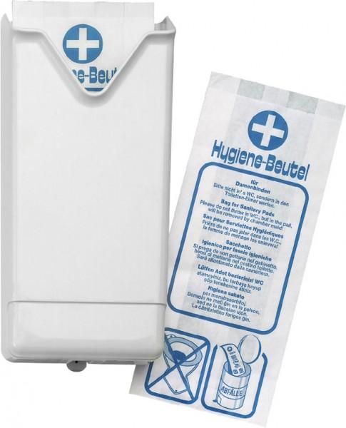 Hygienebeutelspender für Papierbeutel, weiß (1 Stück)