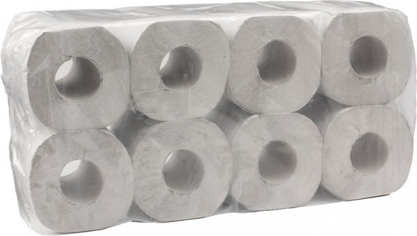 Toilettenpapier 1-lagig 9,5x11,5 cm, natur, 400 Blatt (8x8 Rollen)