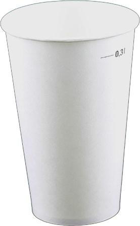 Laborbecher Hartpapier 300 ml weiß (PA30-1010)
