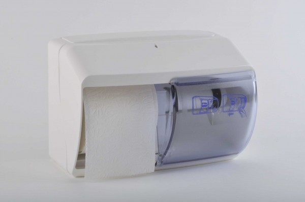 Toilettenpapierspender 260x170x160 mm, für 2 Rollen, weiß (1 Stück)