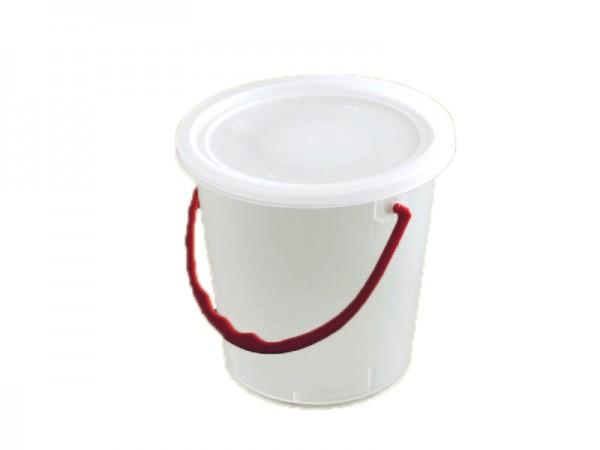 50 Rundbecher mit Bügel in rot und passendem Deckel 520 ml