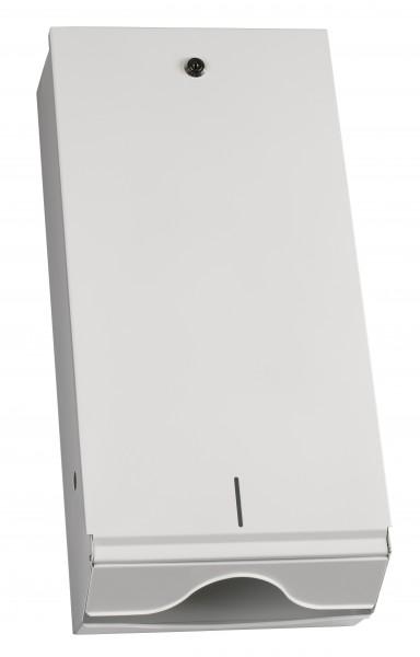 Papierhandtuchspender 550x265x130 mm, für 750 Stück, metall/weiß (1 Stk.)