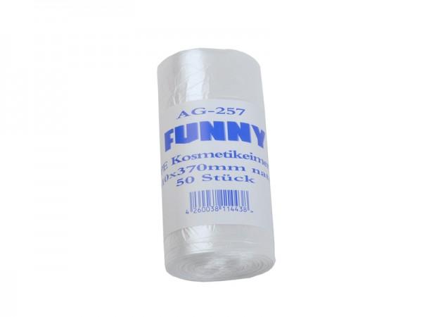 HDPE Kosmetikbeutel Kosmetikeimerbeutel 310x370 mm, 10 l, transparent (40x50 Stk.)
