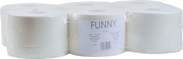 Toilettenpapier kernlos 2-lagig, 13,5x19 cm, Ø19,5 cm, hochweiß (6 Rollen)
