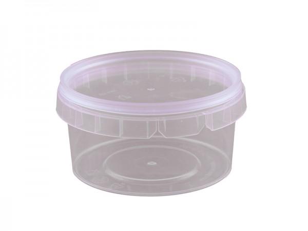 Becher Behälter mit Deckel 210 ml (25 Stk.)