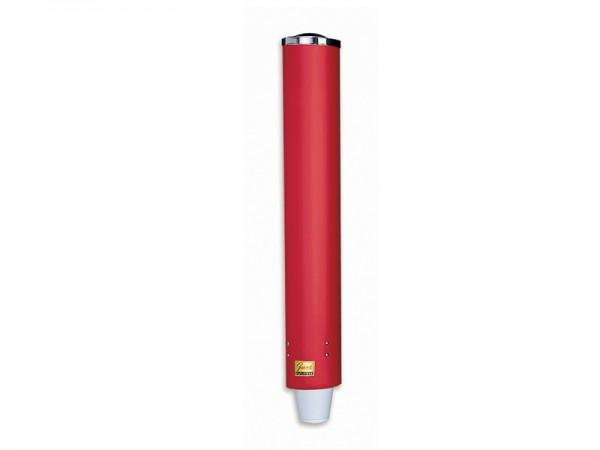 Becherspender für Papier+Plastik Becher mit einem Ø 85-98 mm, rot Wandmontage (1 Stück)