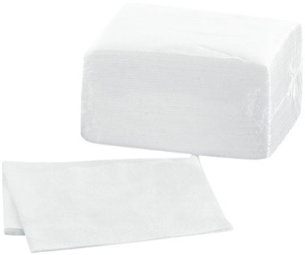 Airlaidtücher 40x30 cm, weiß (1.200 Stk.)