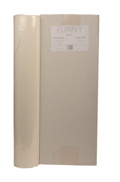 Abdeckrollen für Untersuchungsliegen 1-lagig, 60x38 cm, hochweiß, PE beschichtet (7 Rollen)