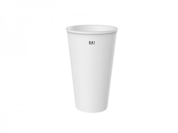 Kaltgetränkebecher DP 16 weiß 0,4 ltr. (20x50)