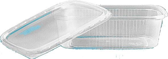 Rechteckbecher mit Deckel 125 ml (78125)