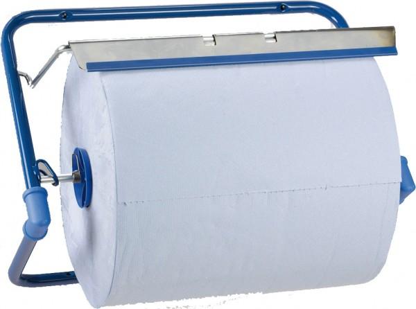 Handtuchrollenspender - Wandhalter für Putztuchrollen bis 40cm, aus Metall, blau (1 Stück)