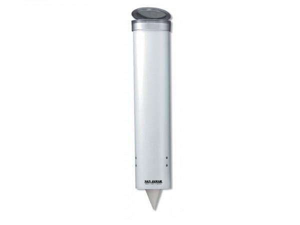 Weißer Becherspender Wasserbecherspender, für Becher mit Ø64-83 mm (1 Stück)