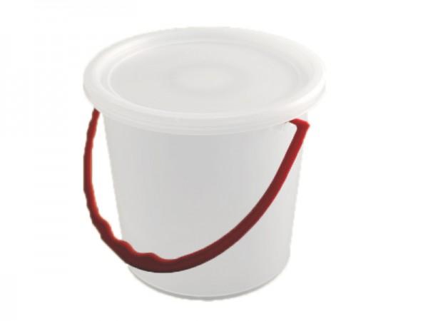 50 Rundbecher / Eimer mit Bügel und passendem Deckel 1125 ml