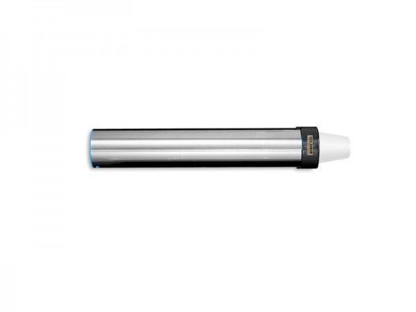 Becherspender für Papier + Kunststoffbecher, horizontale Oberflächenmontage, Becher Ø 70-98 m (1 Stü