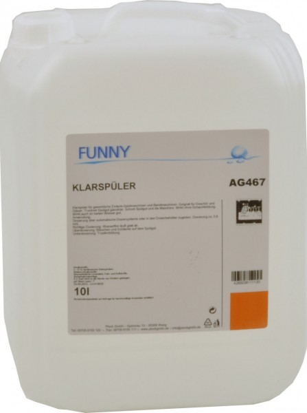 Klarspüler für Spülmaschinen 10 l (1 Kanister)