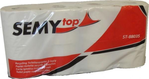 Toilettenpapier 2-lagig, 9,6x11 cm, weißlich, 400 Blatt (7x8 Rollen)