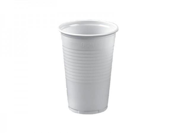 Trinkbecher 0,2 ltr. 200 ccm weiß PP (30x100 Stck)