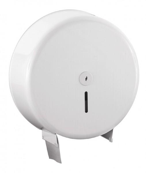 Toilettenpapierspender 360x370x120 mm, Jumbo 32 cm, metall/weiß (1 Stück)