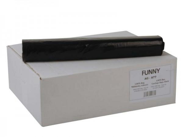 LDPE-Reg. Müllsäcke 700x1000 mm, Typ 60, schwarz (10x20 Stk.)