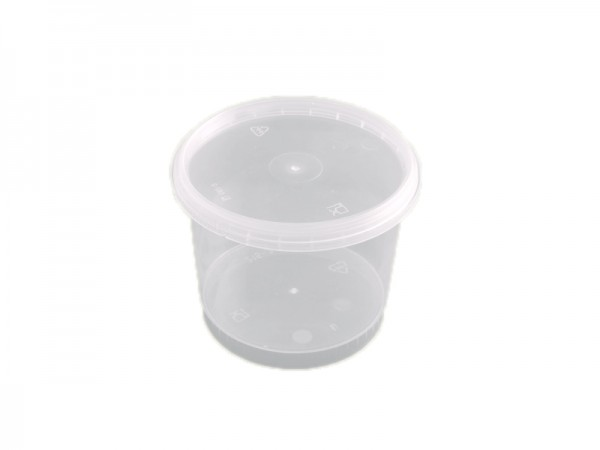 50 Runddosen transparent mit passendem Deckel 275 ml