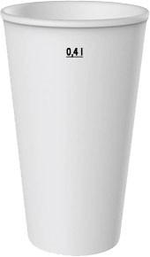 Laborbecher Hartpapier 400 ml weiß (62041)