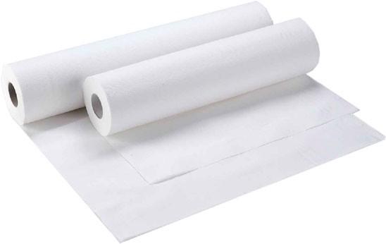 Abdeckrollen für Untersuchungsliegen 2-lagig, 59x38 cm, weiß (9 Rollen)