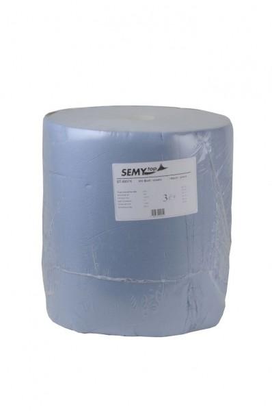 Industriepapierrolle 3-lagig, 37x32cm, blau, 1.000 Blatt (1 Rolle)