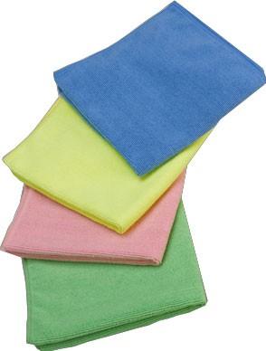 Mikrofasertücher Extra 40x40 cm, blau,rot,gelb oder grün (200 Stück)
