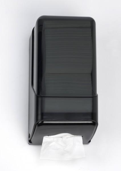 Toilettenpapierspender Einzelblattspender 270x145x125 mm, schwarz (1 Stück)