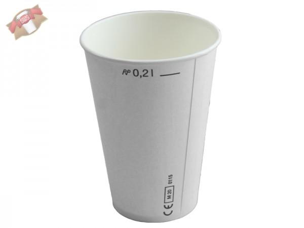 Becher Laborbecher Hartpapierbecher 200 ml weiß (2500 Stk.)